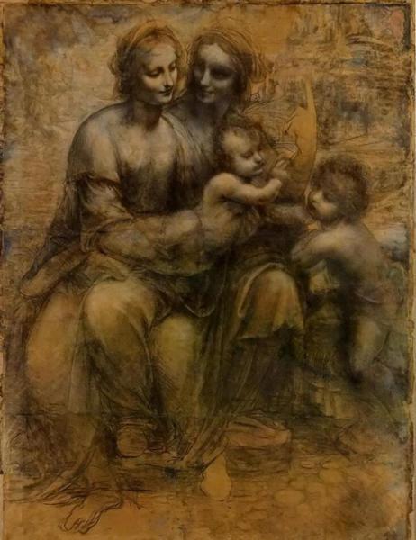 达·芬奇 Da Vinci - 圣母子,圣安妮及小施洗者圣约翰