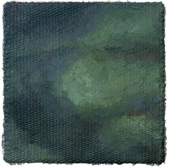 李钢,《20170103》,2017,油画,140 x 140 cm。图片:致谢麦勒画廊