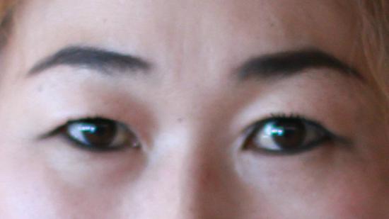 塔城达斡尔族女人画的眼线