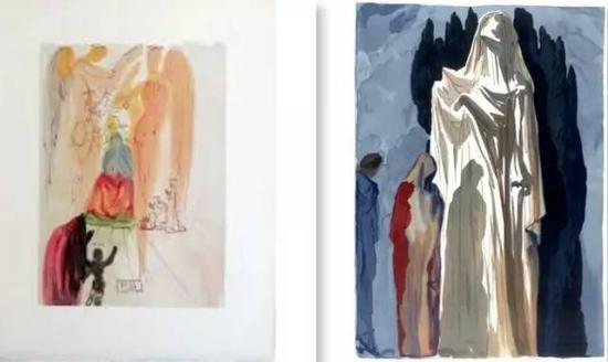 达利,耶稣的胜利,天堂,23章;异教,地狱,第10章,但丁《神曲》1956 -1961年。