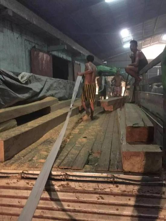 所有的木头都是这么一点一点,一段路、一段路的偷运出来。在缅甸中转仓库卸货时,即使是白天也要关上门。