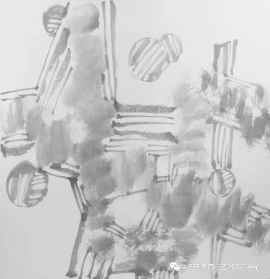 《 课徒稿之抽象8?》??42cm×42cm ?2017年
