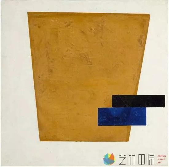 卡兹米尔·马列维奇《至上主义构图与平面投射》