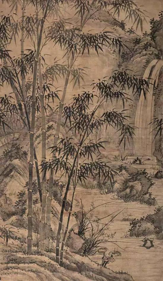581  佚?名(明)?清流修竹图    水墨绢本?立轴    173×99cm?约15.4平尺    RMB: 90,000-150,000