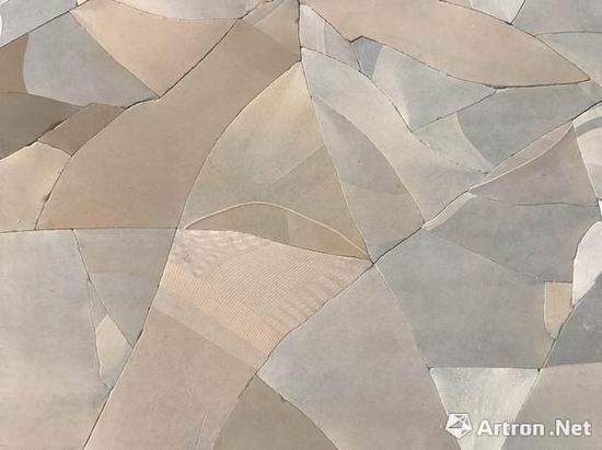 马秋莎 《沃德兰》(局部) 水泥、尼 龙袜、多层板、铁、树脂 980x615cm 2016