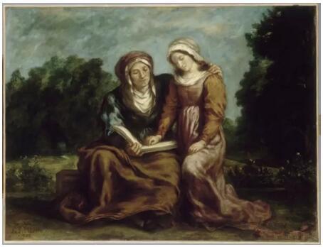 《圣母的教育》(L'Education de la Vierge),欧仁·德拉克罗瓦(Eugène Delacroix),1842,欧仁·德拉克罗瓦国立美术馆,巴黎undefinedundefinedPhoto (C) musée national Eugène Delacroix