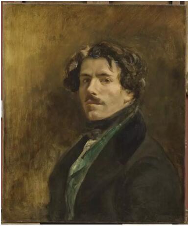 《穿绿色背心的自画像》(L'Autoportrait dit au gilet vert),欧仁·德拉克罗瓦(Eugène Delacroix),卢浮宫博物馆,巴黎undefinedundefinedPhoto (C) RMN-Grand Palais (musée du Louvre) / Michel Urtado