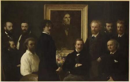 《致敬德拉克罗瓦》(Hommage à Delacroix),Ignace Henri Jean Théodore Fantin-Latour,奥赛博物馆,巴黎undefinedundefinedPhoto (C) Musée d'Orsay, Dist. RMN-Grand Palais / Patrice Schmidt