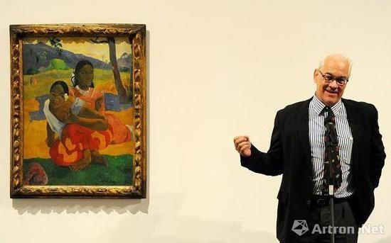 鲁道夫·施特赫林和画作,CREDIT: QUIM LLENAS/GETTY IMAGES EUROPE