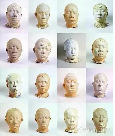 张大力 《一百个中国人》接拼图  玻璃钢  170×50×30cm(平均)  2001-2002年