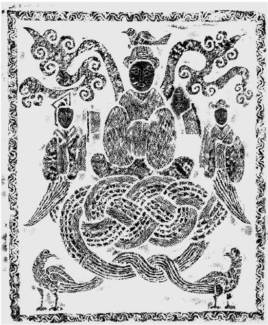 微山两城小石祠西壁画像 67×57cm 微山县文物管理所