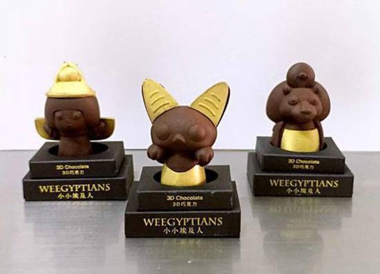 根据埃及神话形象制作的3d巧克力公仔对孩子们来说无疑是最好的礼物.