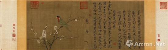 宋徽宗《五色鹦鹉图》卷