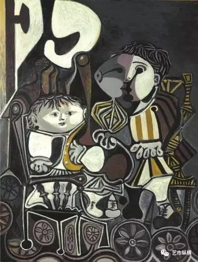 毕加索作品《两个小孩》