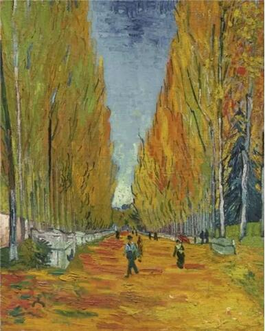 文森特·梵高《阿利斯康林荫大道》,1888
