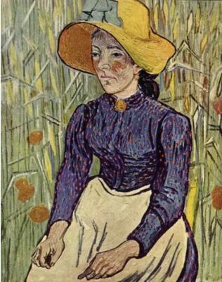 文森特·梵高《麦前的农妇》 1890