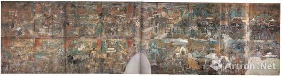 纯阳殿西壁壁画示意图
