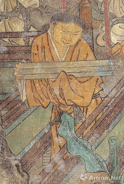 纯阳殿南壁东侧道观斋供图之道童