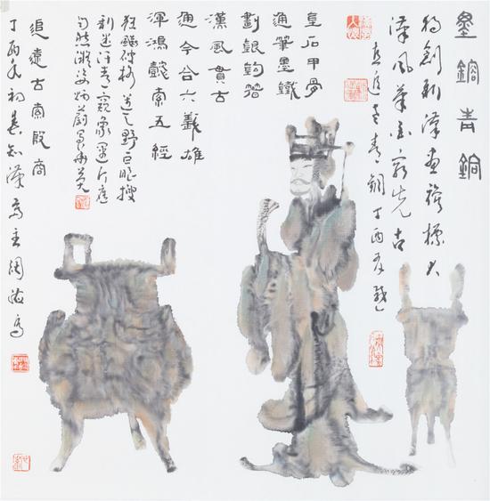 《青铜图》69X69cm