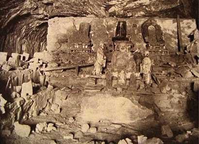帕金斯基1912年拍摄的睒子洞(资料图)