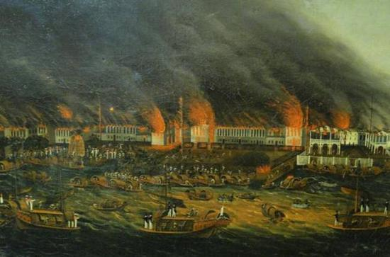 Canton, Fire of 1822,Chinese artist, c. 1822, Peabody Essex Museum