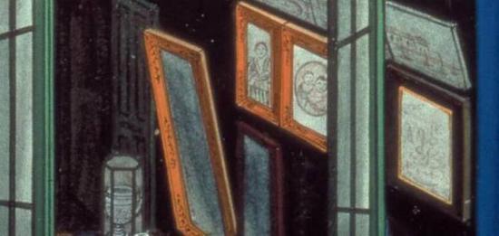 墙上挂着的画作几乎都以西式画框装裱,以迎合其目标消费者。