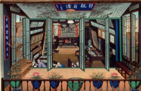 The studio of Tingqua, Tingqua (attributed), Mid-19th century, Gouache on paper, Hong Kong Museum of Art
