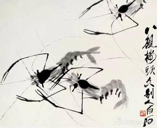 新中国 齐白石 《虾》