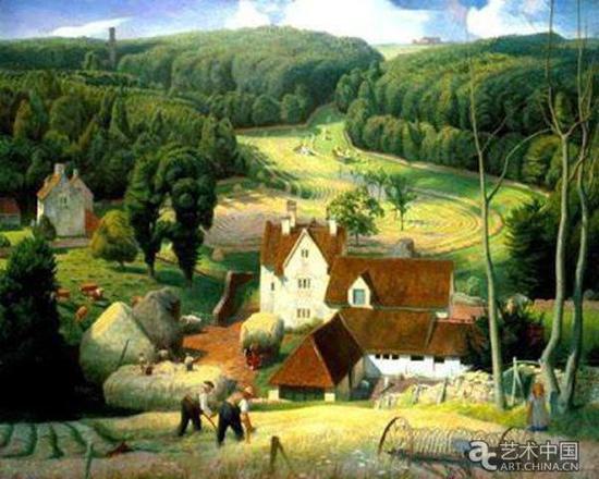 詹姆斯·贝特曼 《科茨沃尔德农场的干草期》