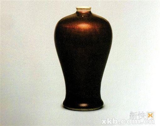 ■冯玮瑜收藏的郎窑红釉梅瓶