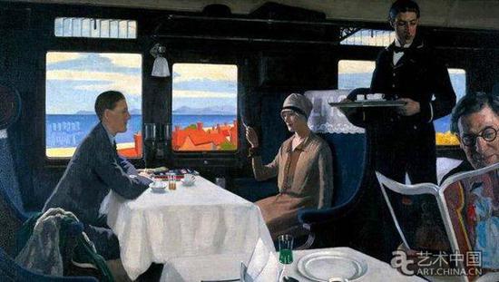 伦纳德·坎贝尔·泰勒 挪动的场景:餐车(1935)