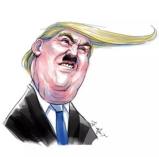 中国人漫画:特朗普的屌丝状