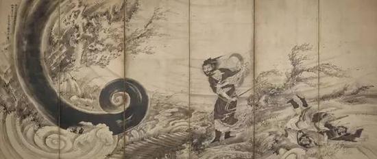 《风仙图屏风》,江�跏贝�(1764年左右),曾我萧白