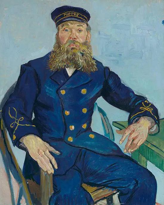 《邮差约瑟夫·鲁林》,1888年,文森特·梵高