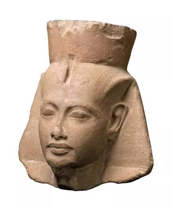 图坦卡蒙法老头部像,埃及新王国时期第18王朝,公元前1336年-1327年