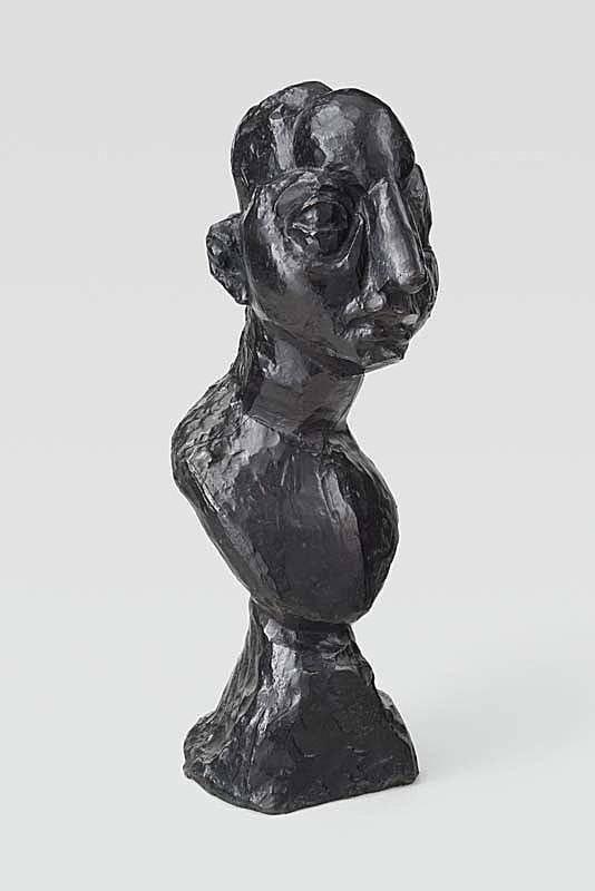 马蒂斯雕塑作品,《Head of Jeannette V》 1913年制模, 1954年浇铸.(图源:皇家艺术研究院)