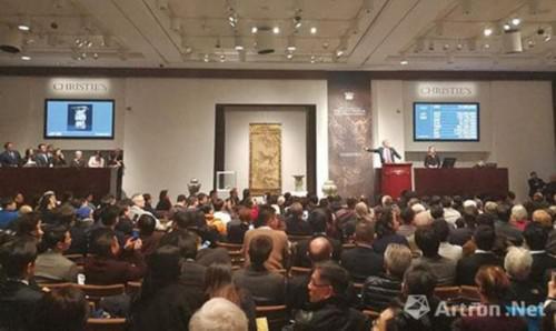 纽约佳士得 宗器宝绘—藤田美术馆藏中国古代艺术珍品 拍卖现场