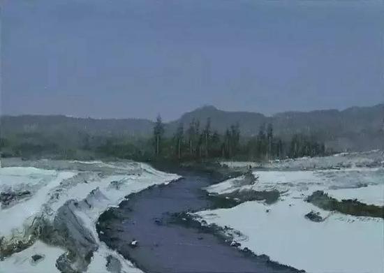 陆庆龙《冬雪》