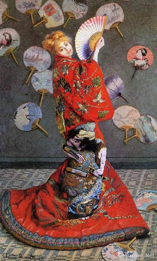 ▲《穿着日本和服的女子》