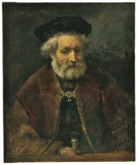 本月早些时候一幅被认定为伦勃朗作品的老人肖像在佳士得伦敦以210万英镑成交,估价为100万英镑。图片:Courtesy Christie's Images Ltd