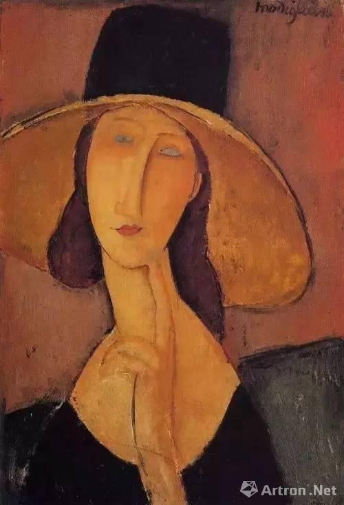 ▲《戴帽子的让娜·海布特》