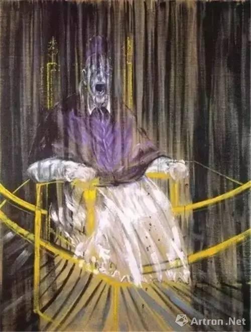 ▲弗朗西斯·培根《尖叫的教皇》,1953年
