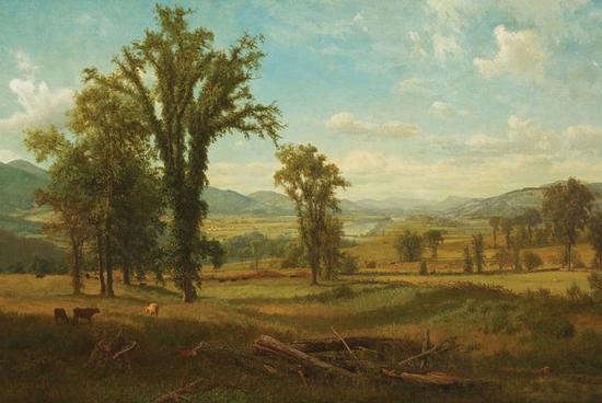 阿尔伯特·比尔史伯特,《新罕布什尔州克莱尔蒙特地区的康涅狄格河谷》,1868年