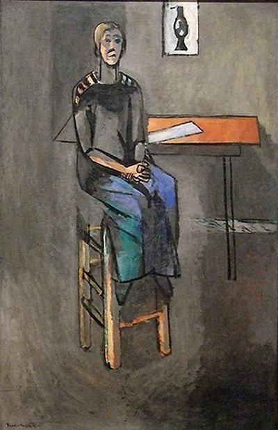 马蒂斯,《高凳上的女人》,1914年