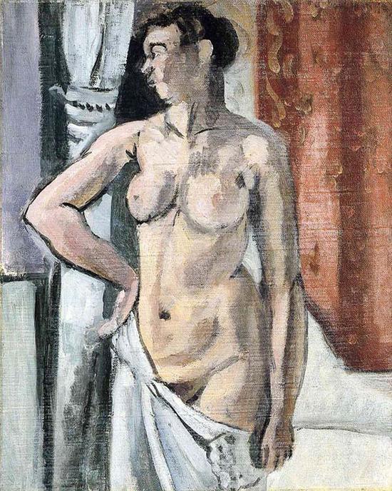 马蒂斯,《站立的裸体》,1906-07年