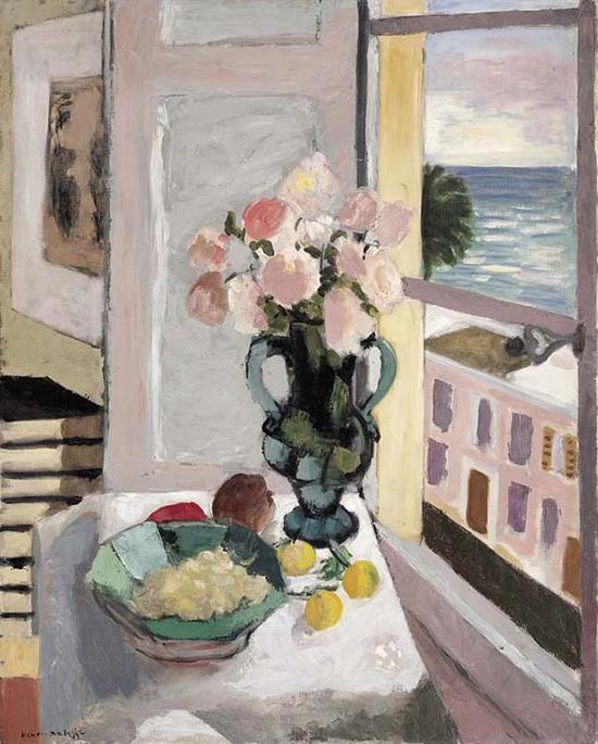 马蒂斯,《窗边的玫瑰》,1925
