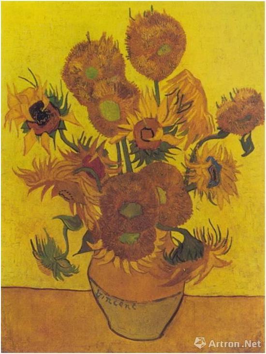 花瓶里的十四朵向日葵