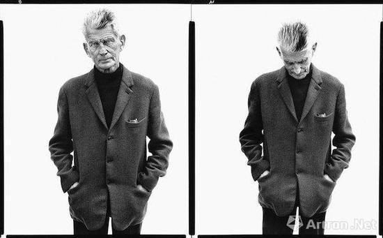 塞缪尔·贝克特,作家,巴黎,1979年4月13日,摄影:理查德·阿威顿