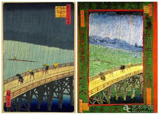 梵高临摹的日本浮世绘