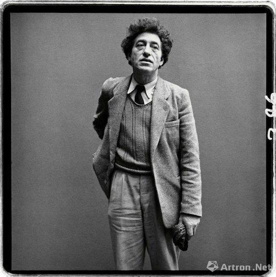 阿尔贝托·贾科梅蒂,雕塑家,巴黎,1958年3月6日,摄影:理查德·阿威顿